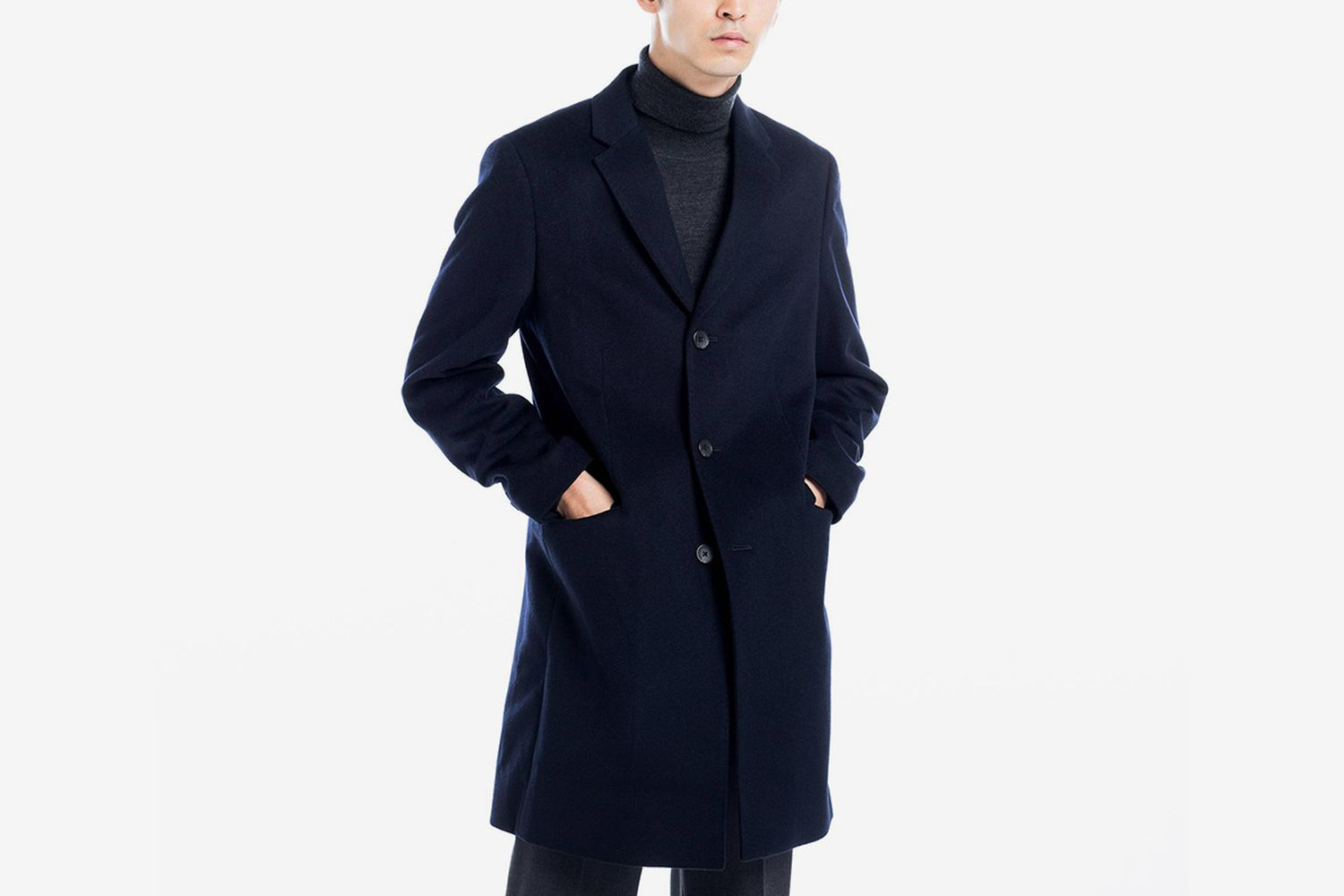 Wool-Cashmere Chesterfield Coat