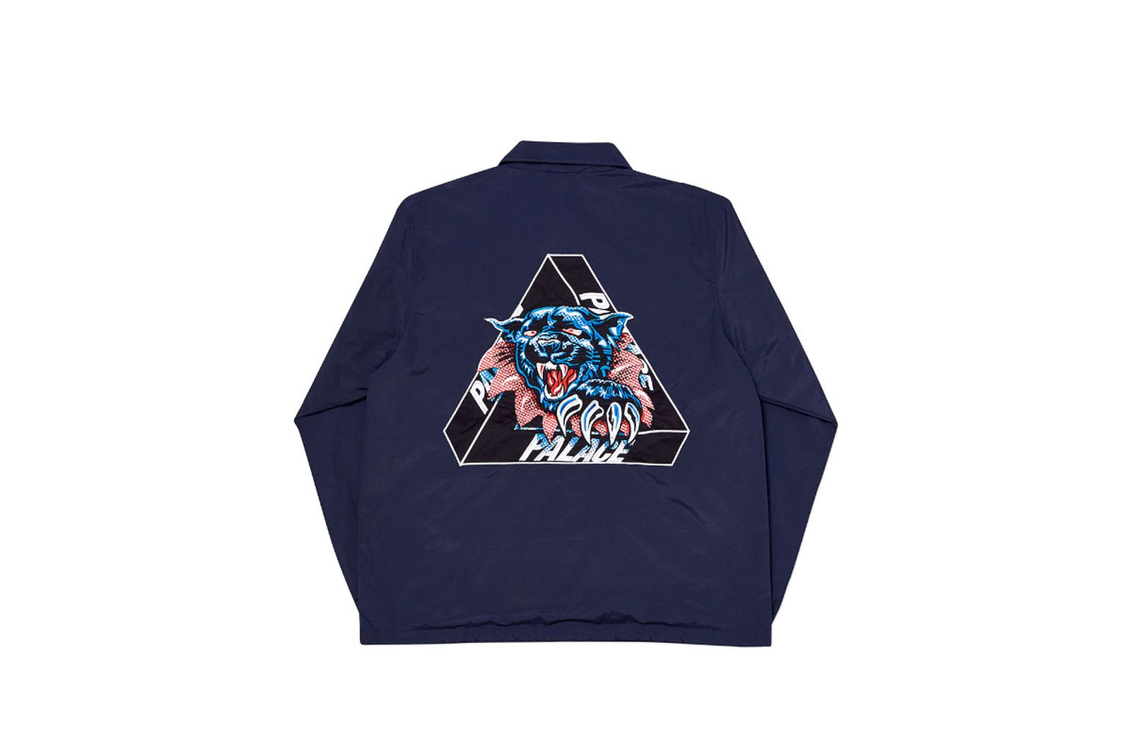 Palace 2019 Autumn Jacket Ripped Coach navy back fw19