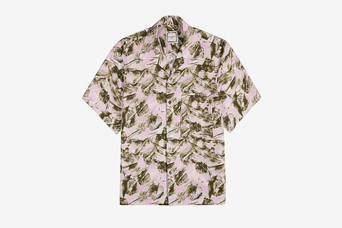 Printed Stretch-Poplin Shirt