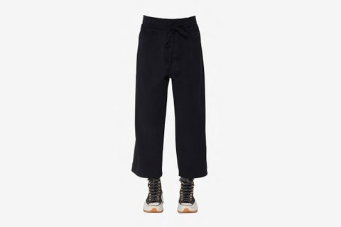 Double Front Flap Cotton Canvas Pants