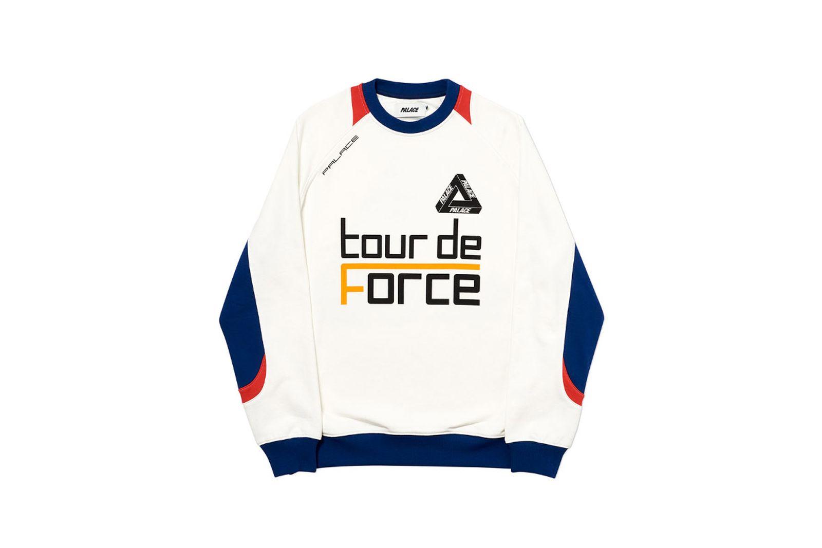 Palace 2019 Autumn Crew Tour De Force white front 2512 1