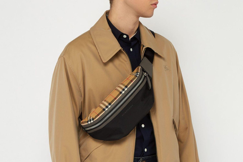 Sonny Vintage Check-panelled Belt Bag