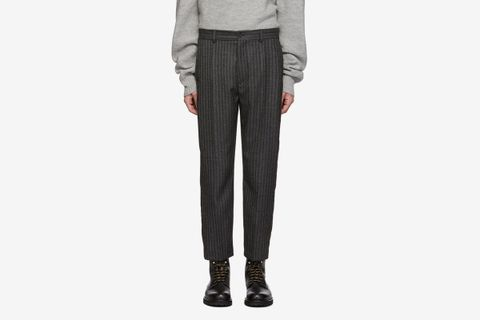 Stripe Cut Trousers