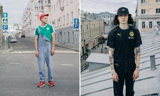 Here's How Moscow's Stylish Are Wearing PUMA's Football Jerseys
