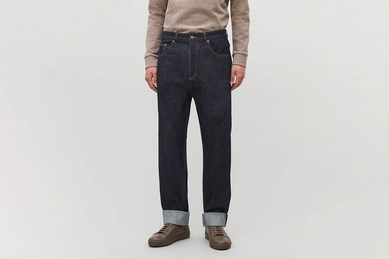 Relaxed Leg Jeans With Turn-Ups