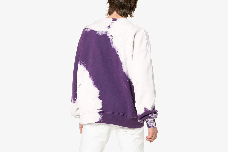 Shotgun tie-dye distressed cotton sweatshirt
