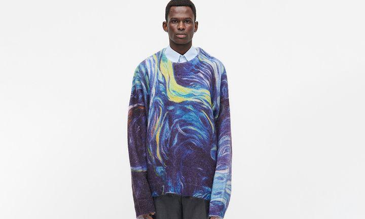 Namacheko Mohair Knit Starry Night Van Gogh