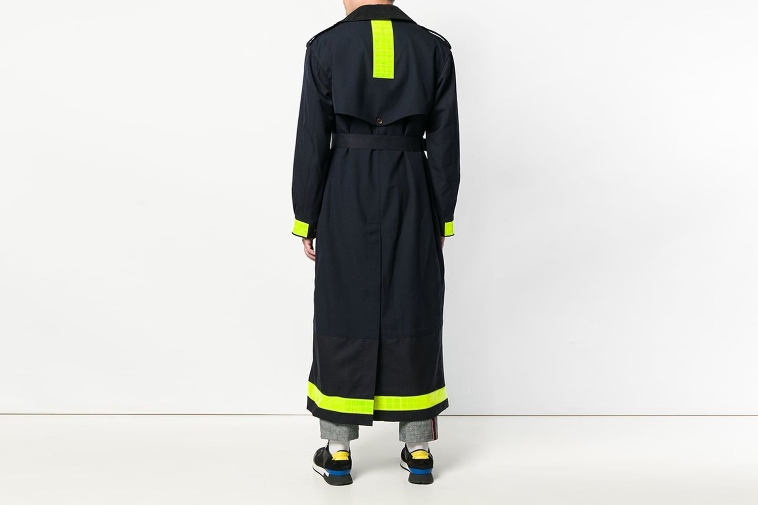 Reflective Tape Trench Coat
