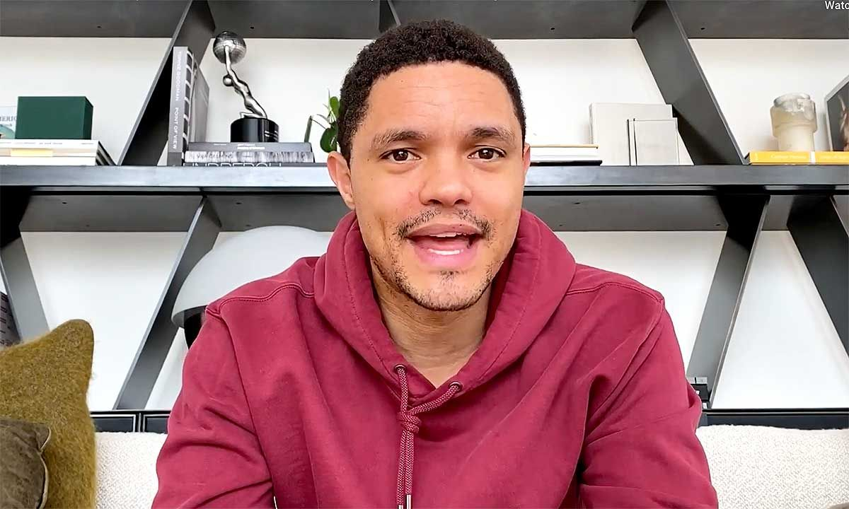 Trevor Noah Is Now Hosting 'The Daily Show' from His Couch