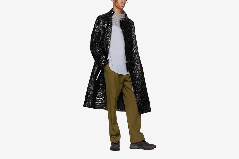 Croc-Embossed Coat