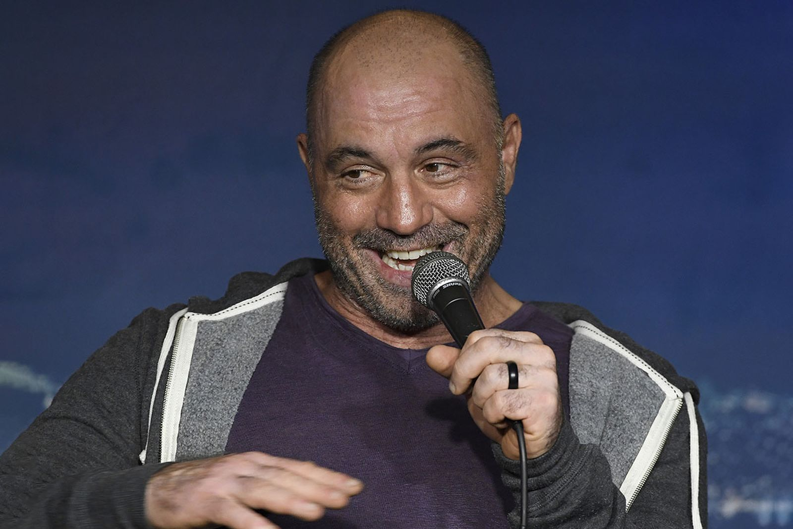 Comedian Joe Rogan performs during his appearance at The Ice House Comedy Clu
