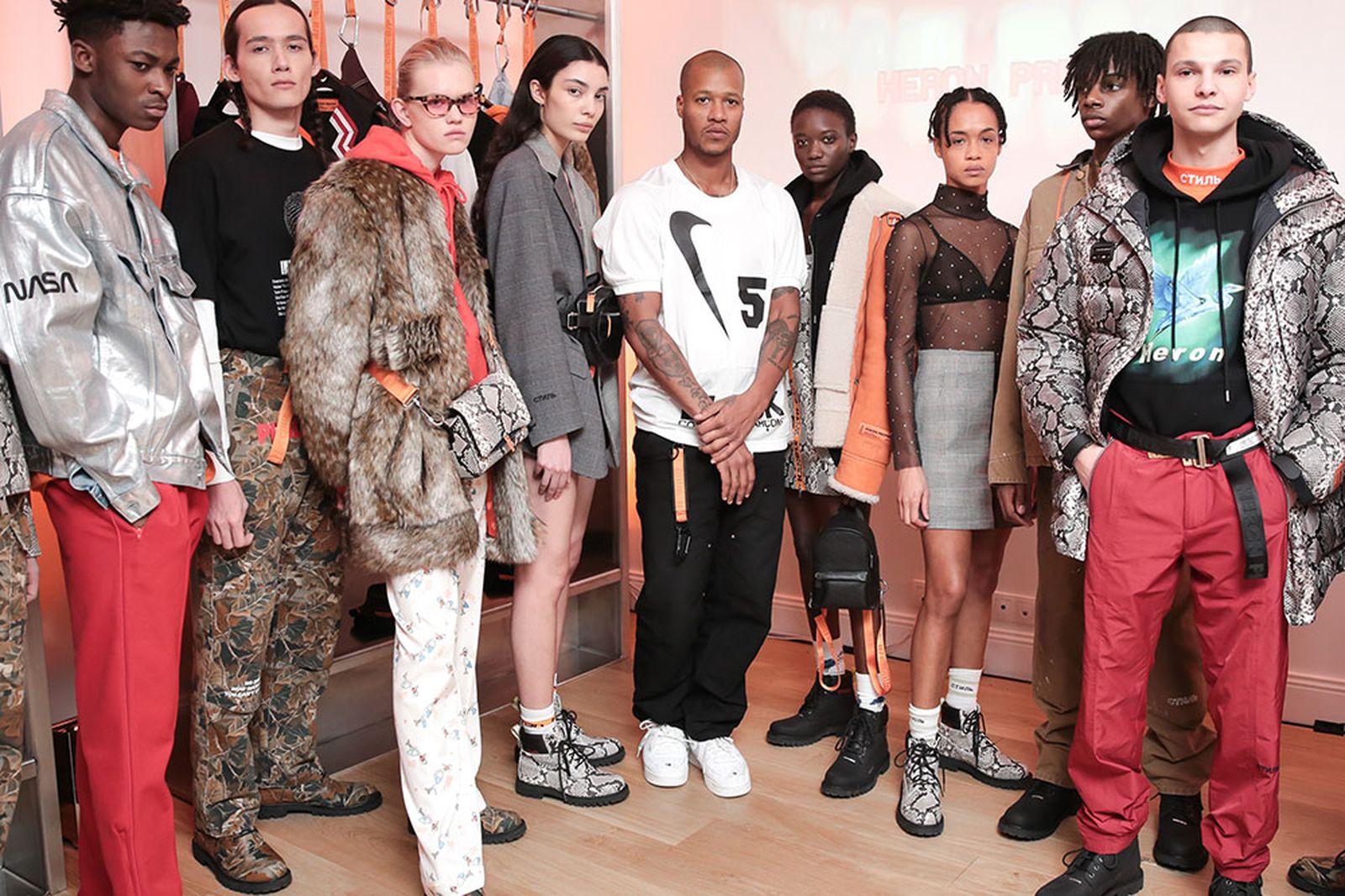 [INSERT EVENT CAPTION HERE] Heron Preston paris fashion week runway