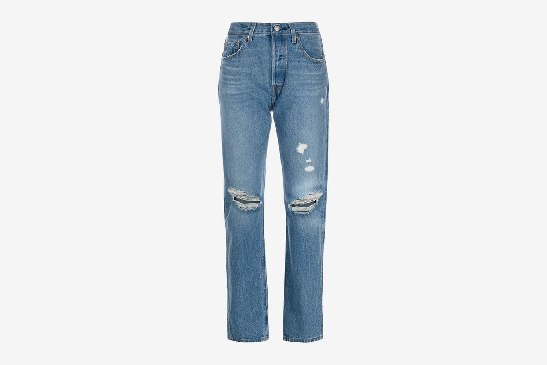 501 Original-Fit Distressed Jeans