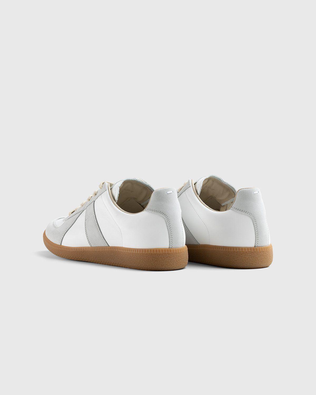Maison Margiela — Calfskin Replica Sneakers Light Grey - Image 3
