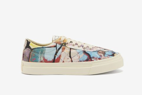Dellow Printed-Canvas Trainers