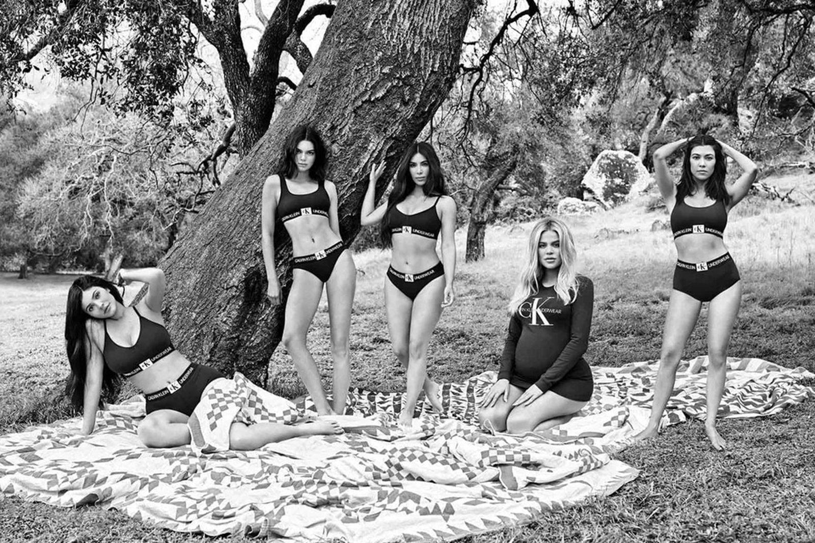 kardashian jenner calcin klein Kim Kardashian West kendall jenner khloe kardashian