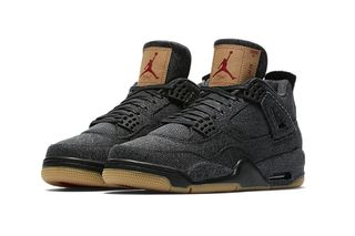 76760a493d4c Here s How   Where to Buy the Levi s x Air Jordan IV in Black