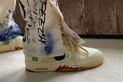 unreleased white Off-White™ x Nike Air Jordan 5