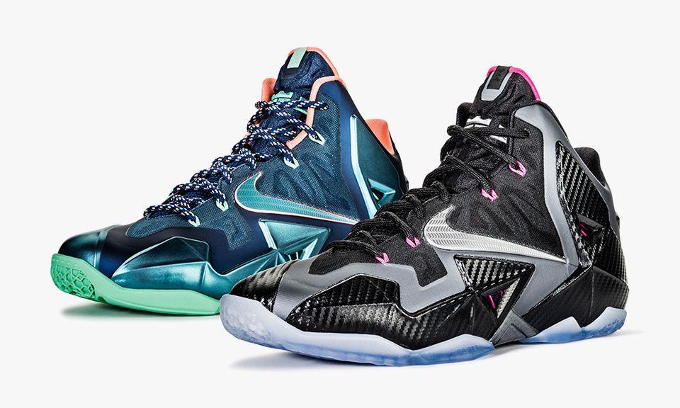 "hot sales d9854 4cbf7 Nike LeBron 11 ""Akron vs. Miami"