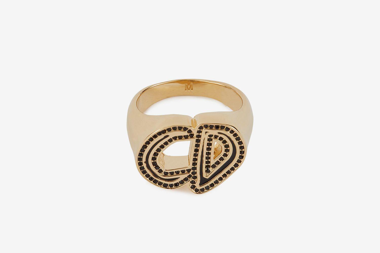 CD Dior And Pettibon Signet Ring