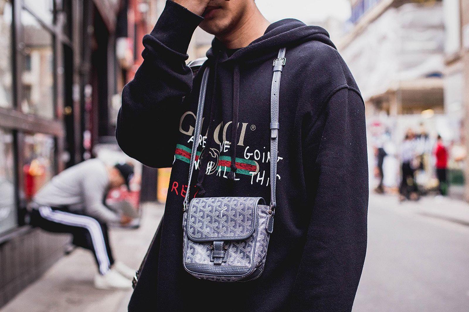 Gucci hoodie Goyard bag