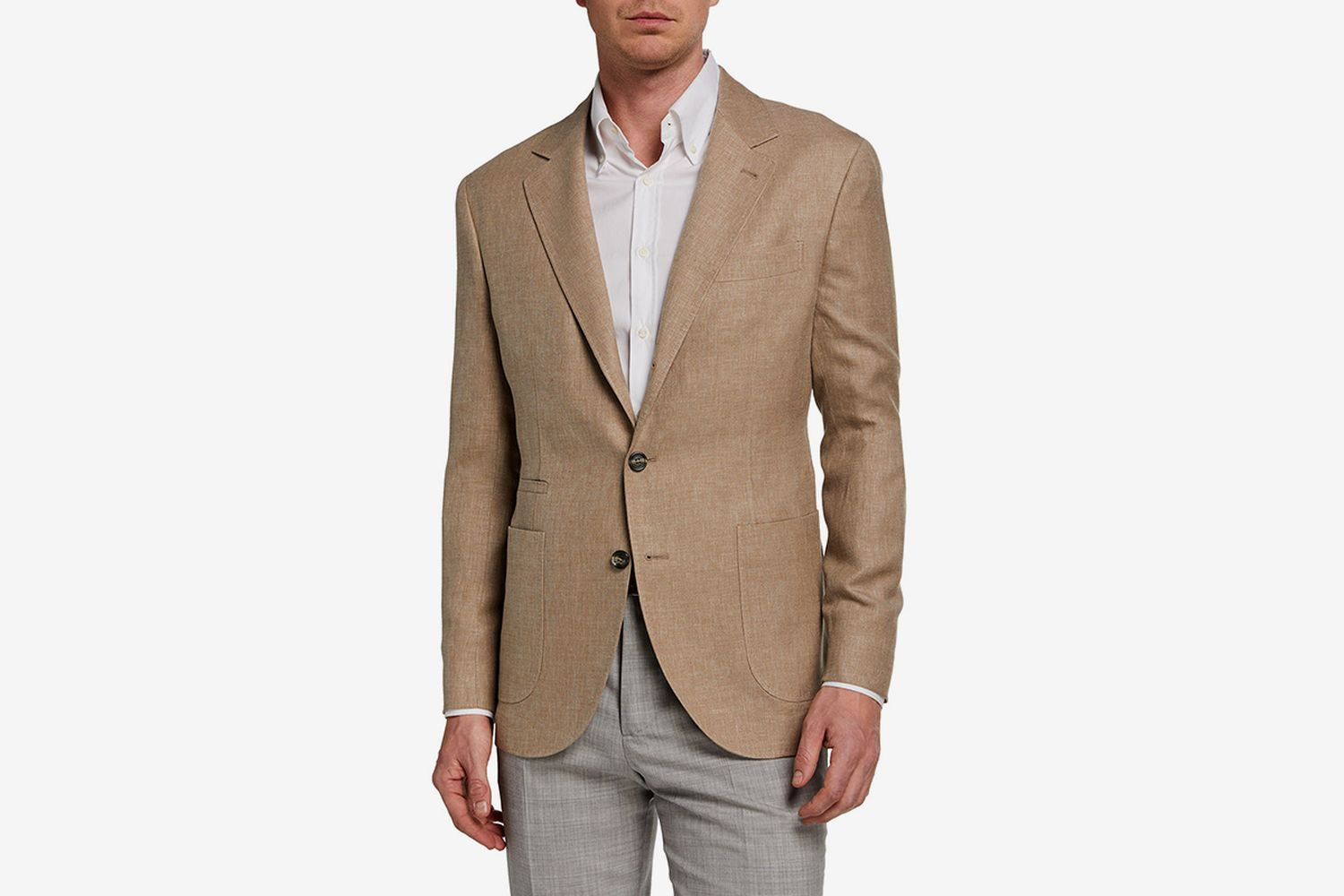 Hopsack Two-Button Jacket