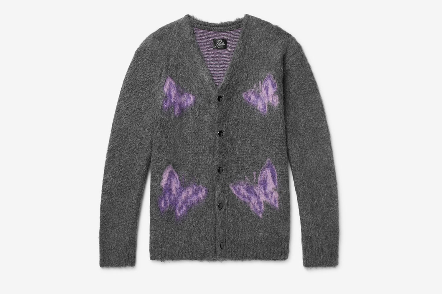 Logo-Intarsia Mohair And Wool-Blend Cardigan