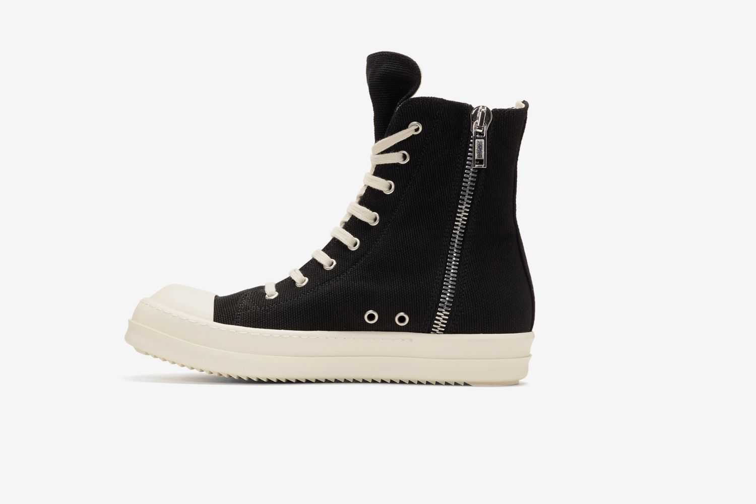 Black Embroidered High-Top Sneakers