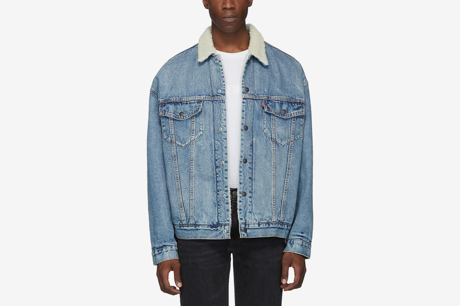 Denim Sherpa Trucker Jacket