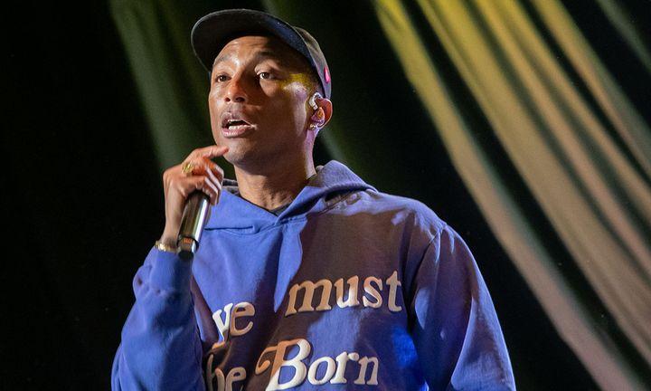 Pharrell performing