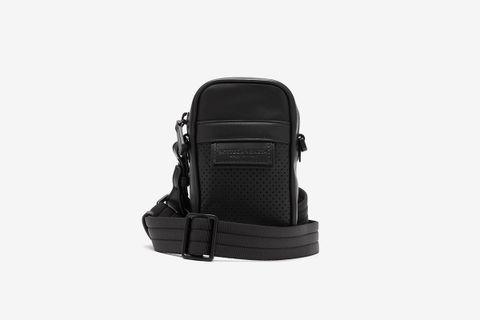 Leggero Perforated Leather Mini Cross-Body Bag