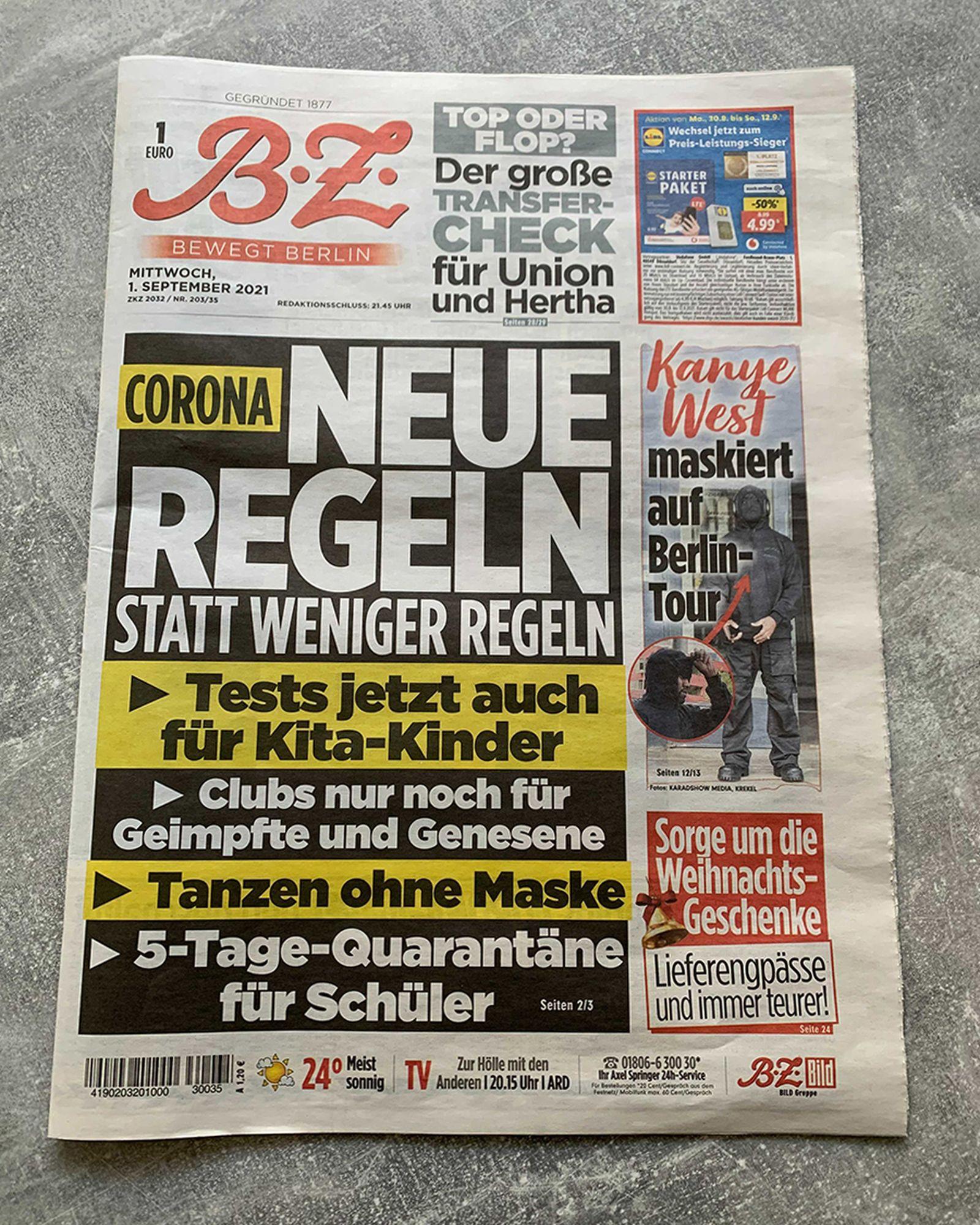 kanye west berlin kw institute hoodie merch buy bild newspaper donda outfit scan