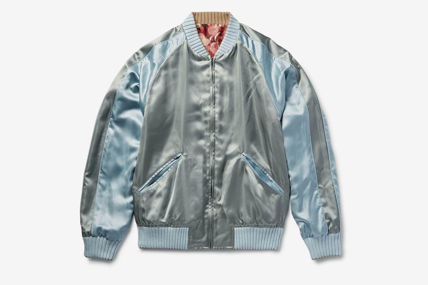 Reversible Silk Bomber