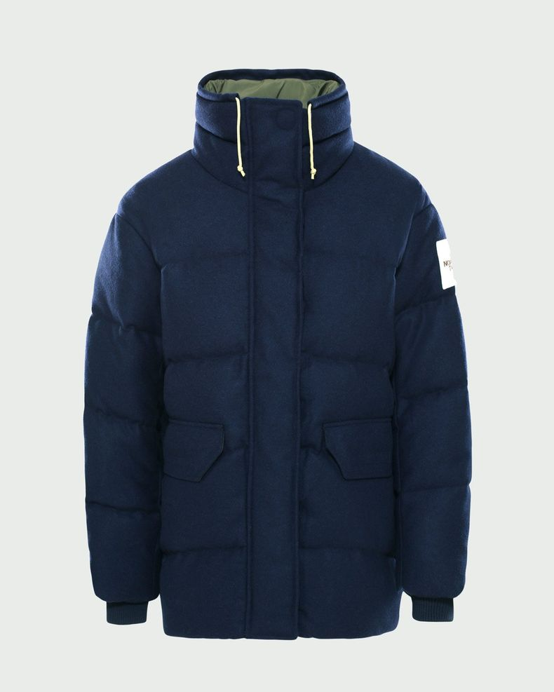 The North Face Brown Label - Larkspur Wool Down Jacket Navy Women