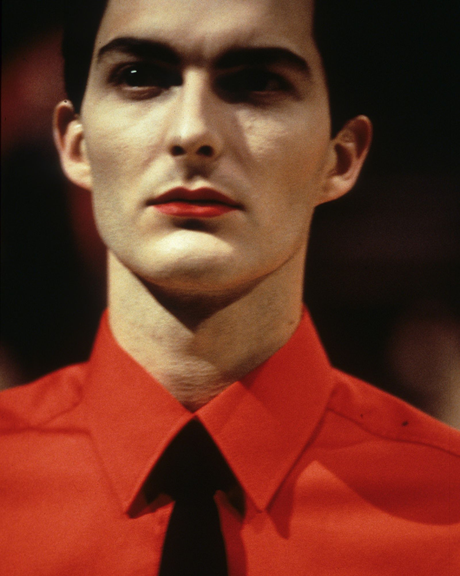 Much of Raf Simons Fall / Winter 1998 was inspired by the aesthetic of Kraftwerk