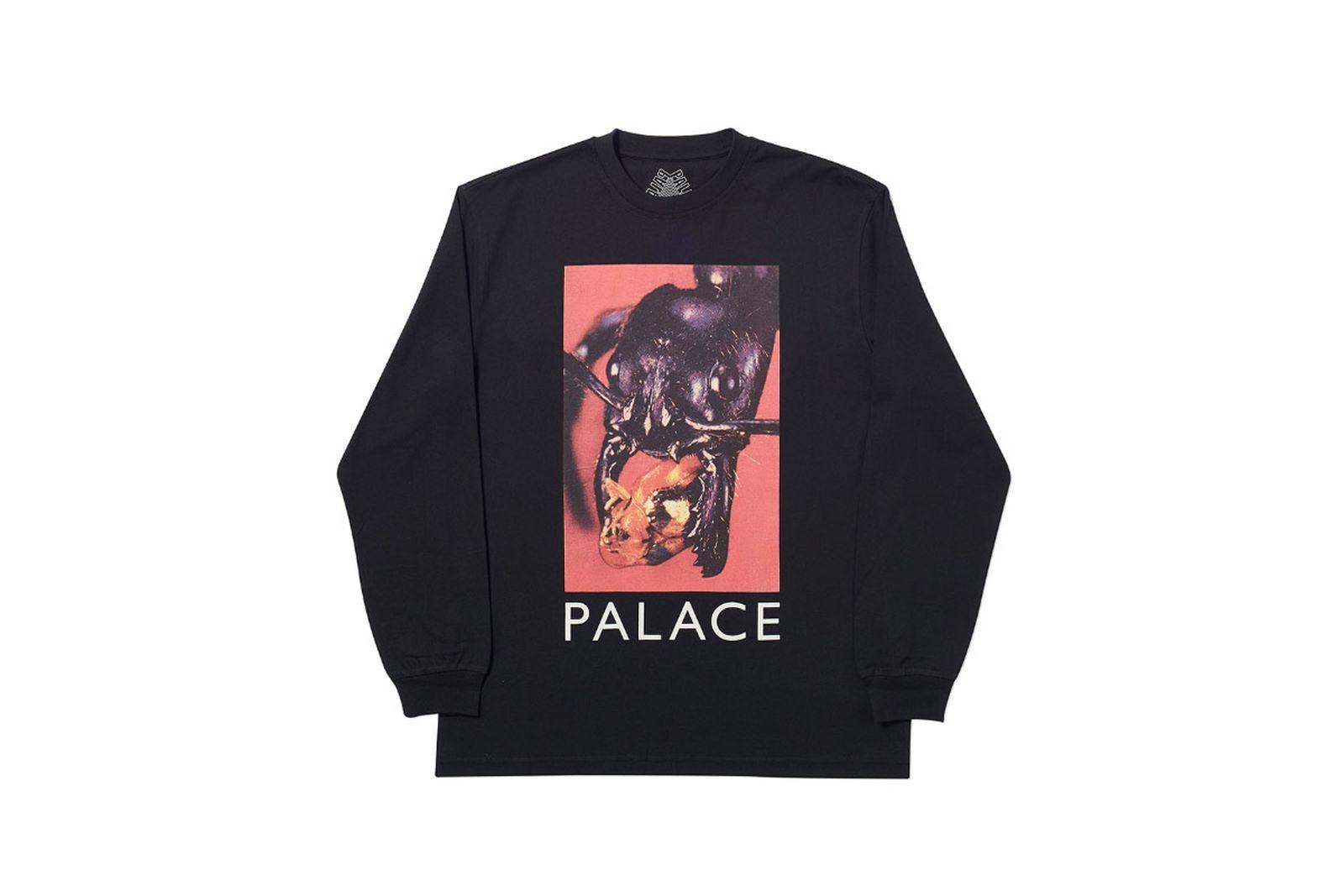 Palace 2019 Autumn Longsleeve T Shirt Bug Munch black 1366 ADJUSTED