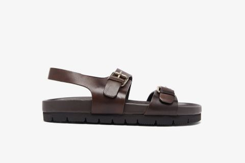 Lennox Buckled Leather Sandals