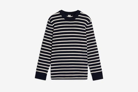 Striped Wool & Cotton Jumper