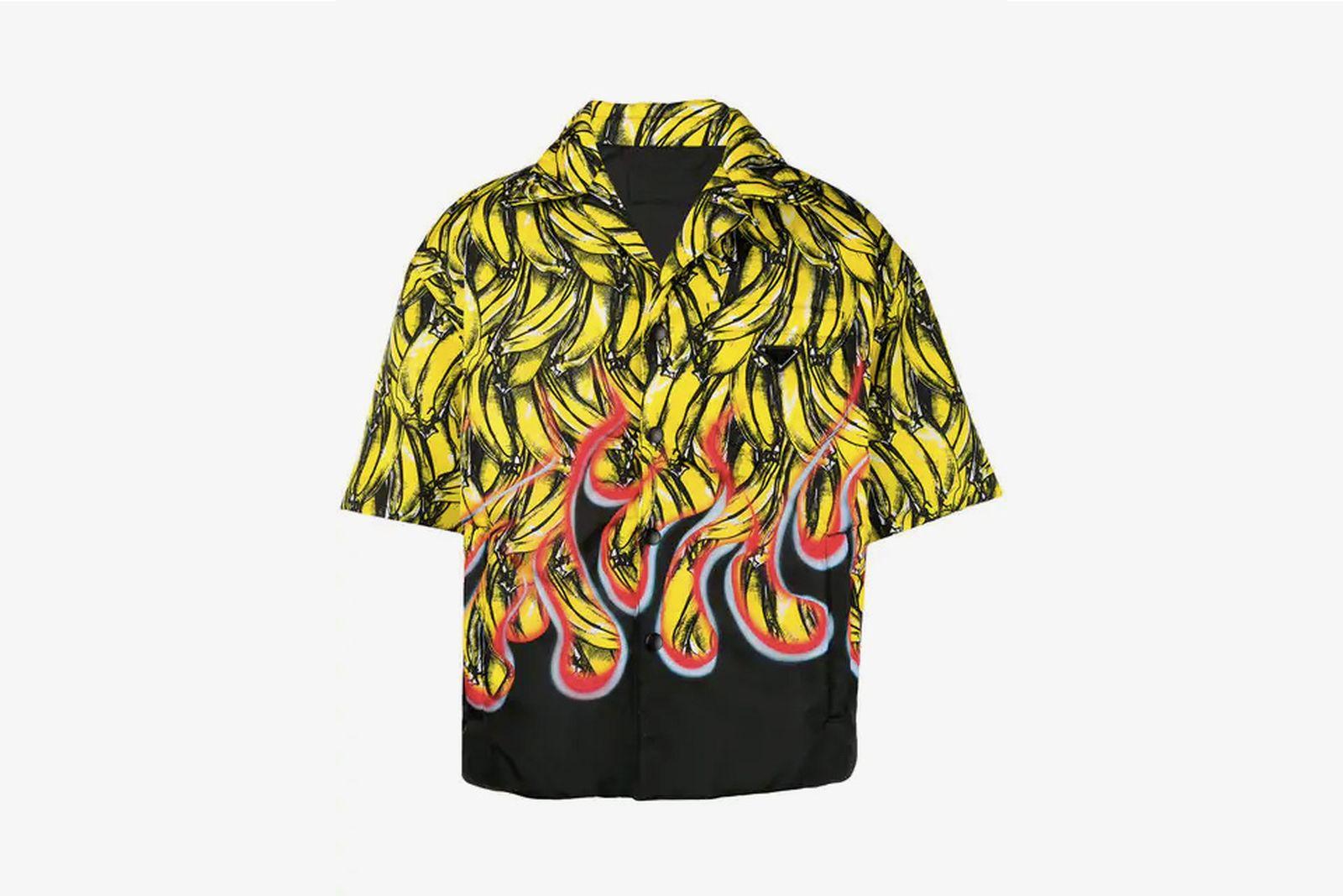 history of prada banana shirt