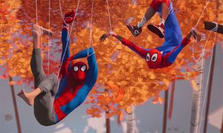 Peter Parker Teaches Miles Morales to Swing in New 'Spider-Man: Into the Spider-Verse' Trailer