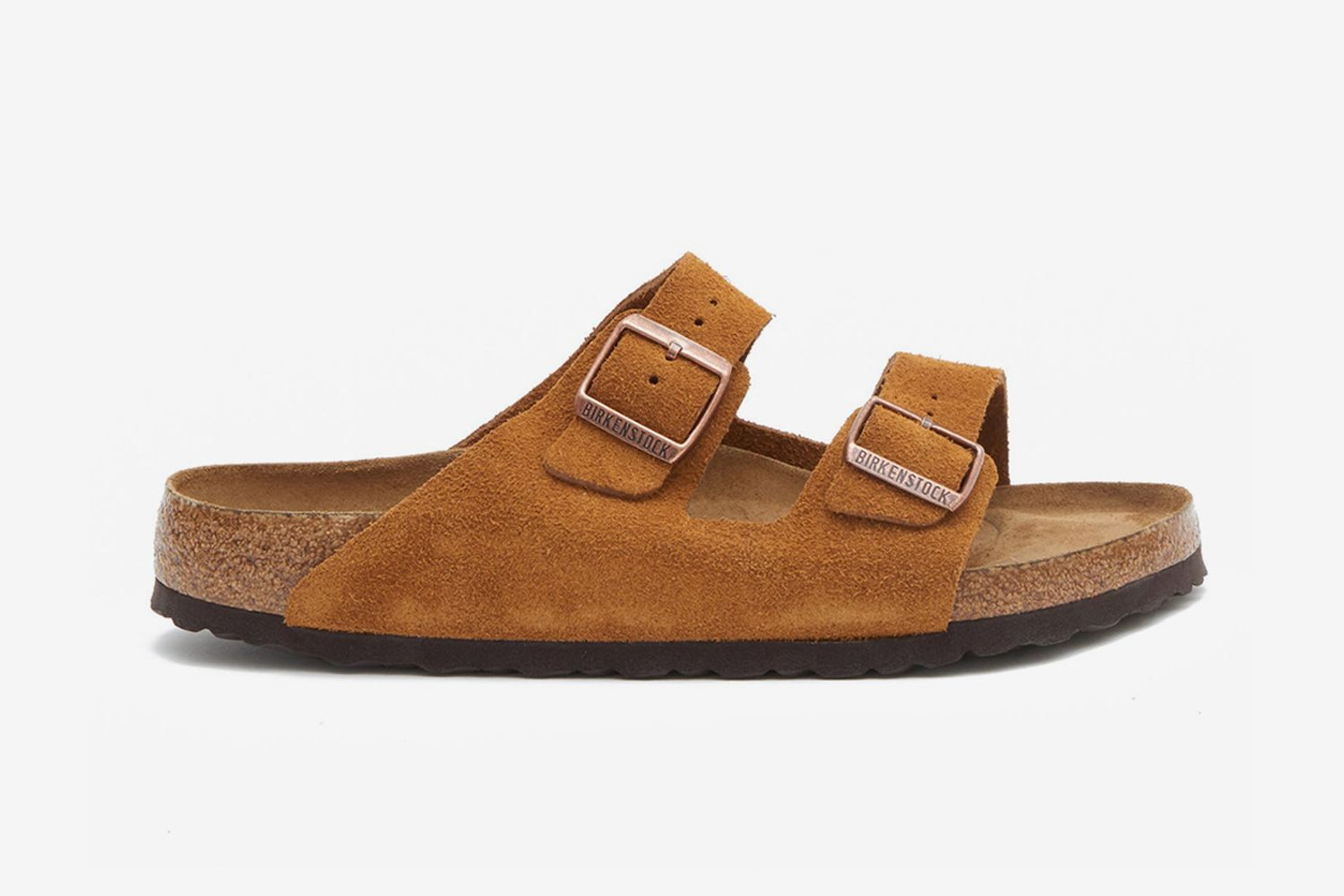 Arizona Two-Strap Suede Slides