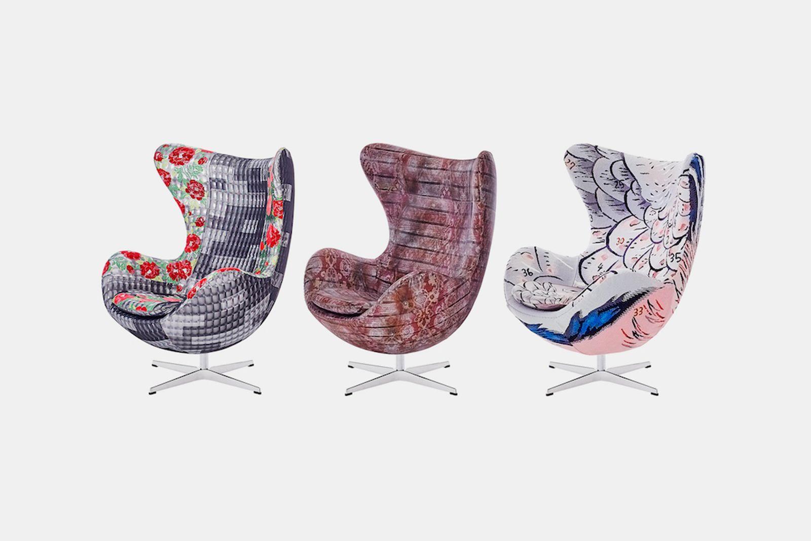 fritz hansen egg chair kawashima textile celcon Aoki Akiko Ino Masayuki Taro Horiuchi