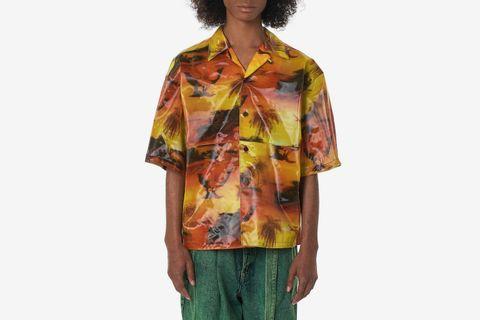 Lenticular Camp-Collar Shirt