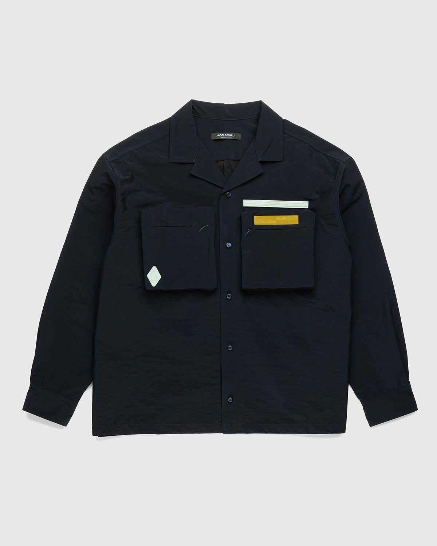 A-COLD-WALL* – Cuban Collar Shirt Navy - Image 1