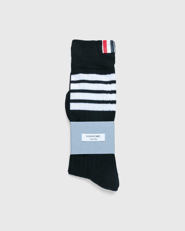 Thom Browne x Highsnobiety — Women's Mid-Calf Socks Grey - Image 1