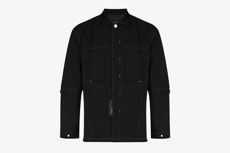 Topstitched Shirt Jacket