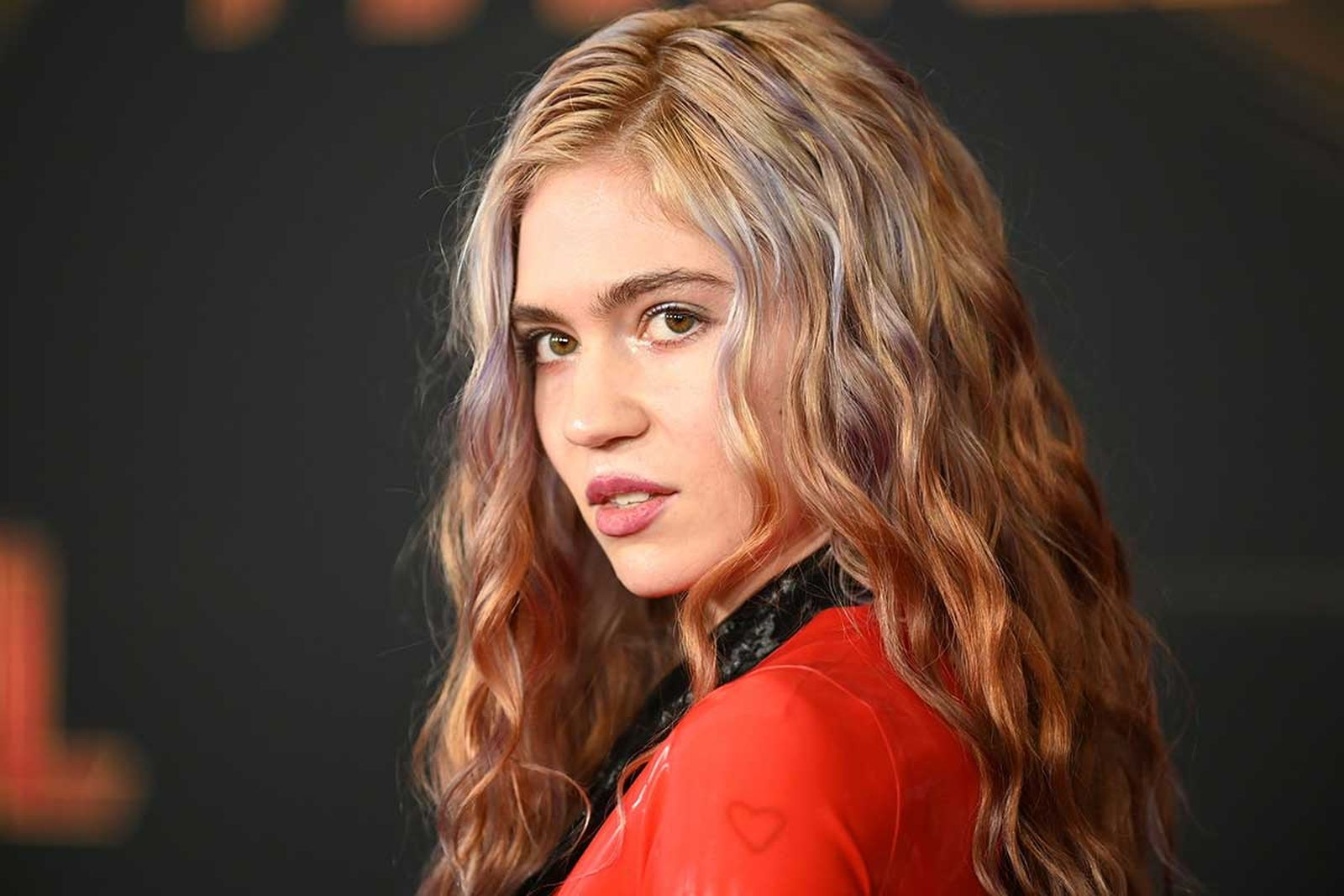 Grimes on the red carpet