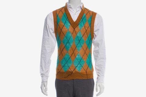 Mohair V-Neck Sweater Vest