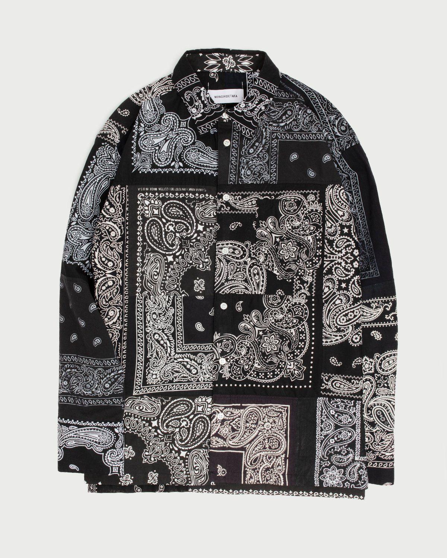 Miyagihidetaka Bandana Shirt Black - Image 1