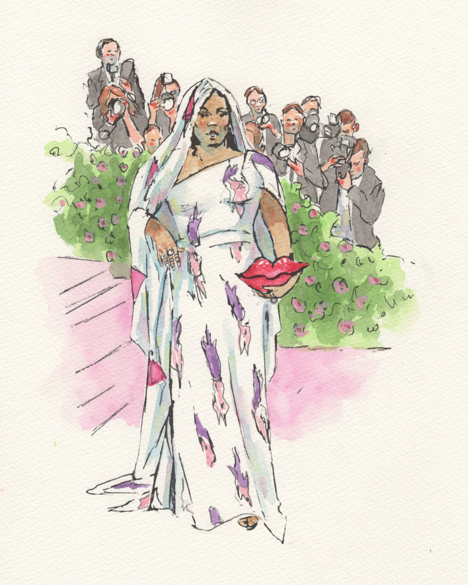 courtroom-sketch-artist-draws-fantasty-met-gala-fits-never-happened-Lizzo